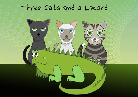 Adobe Affter Effects animation I created in the summer an an intro to my YouTube website staring my cats and iguana.
